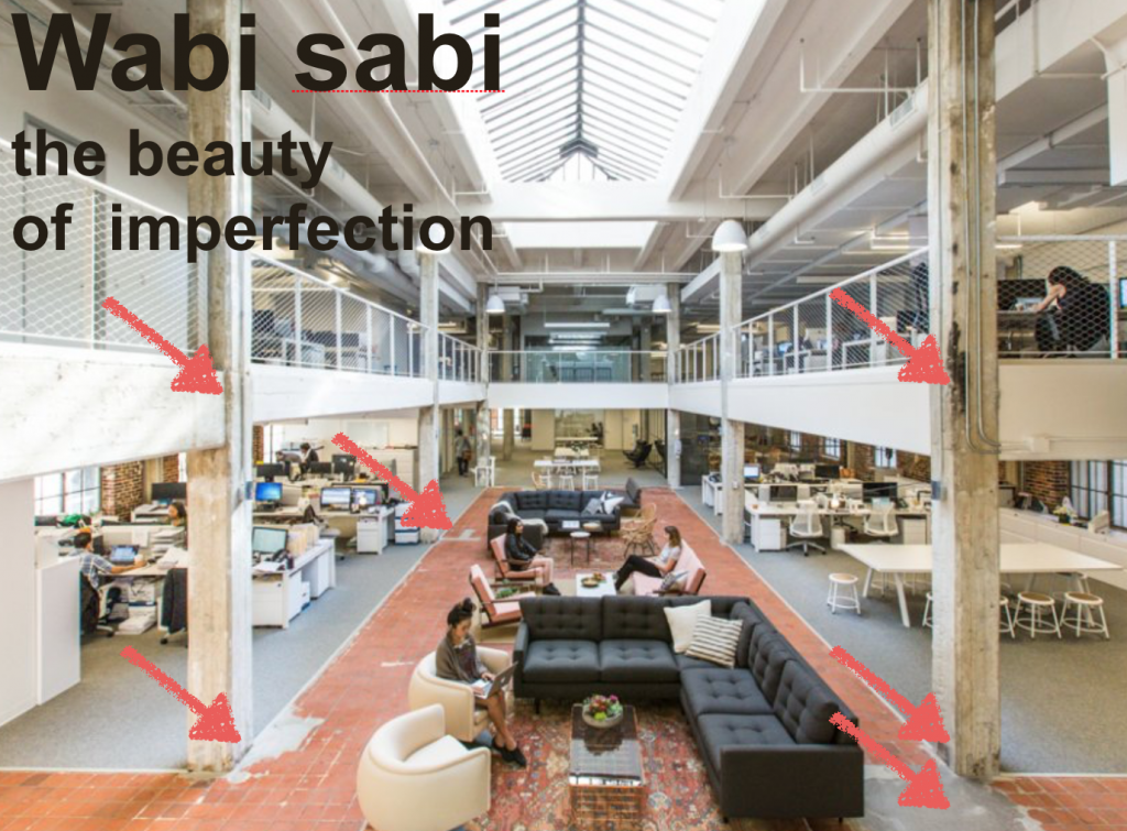 Example of wabi sabi in a workplace