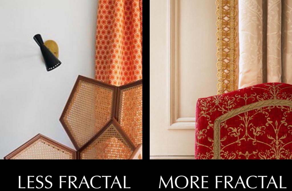 Non fractal vs fractal