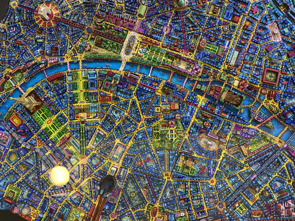 Grid map of central Paris