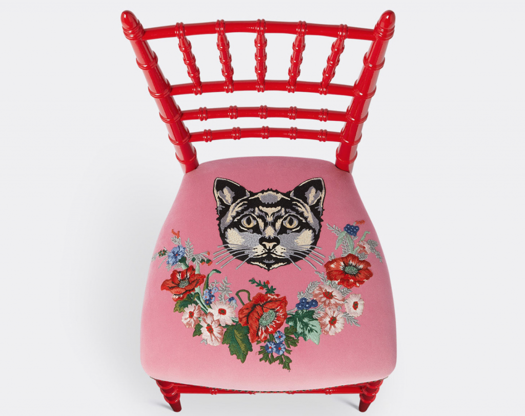 Gucci cat chair