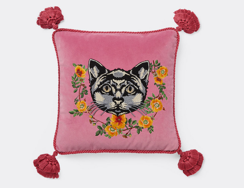 Gucci cat cushion