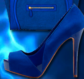 Electric blue colour of 2014 for shoes