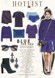 colour for 2014 electric blue