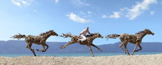Drift wood horses (Picture: Doran-Webb/BNPS)