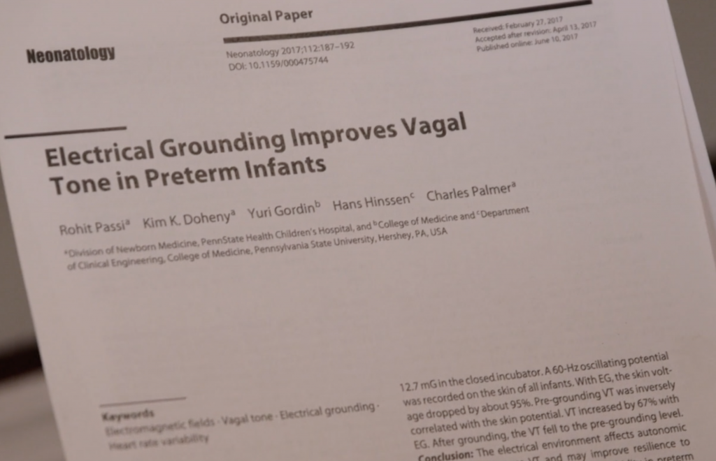 Electrical Grounding Improves Vagal Tone in Preterm Infants