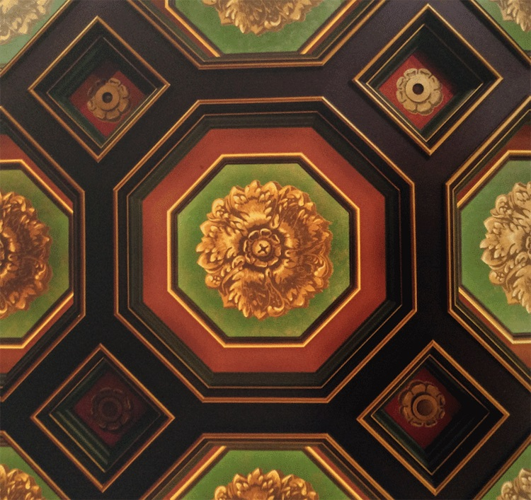 Octagonal coffered ceiling by Alidad