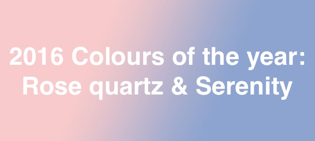 2016 colours of the year