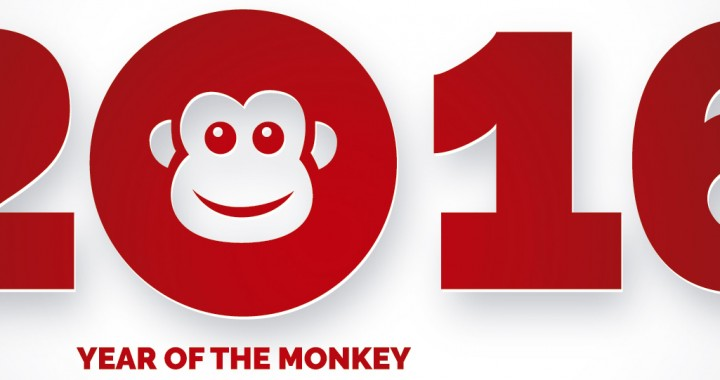 2016 - The Year of Fire Monkey - Red Colour of 2016