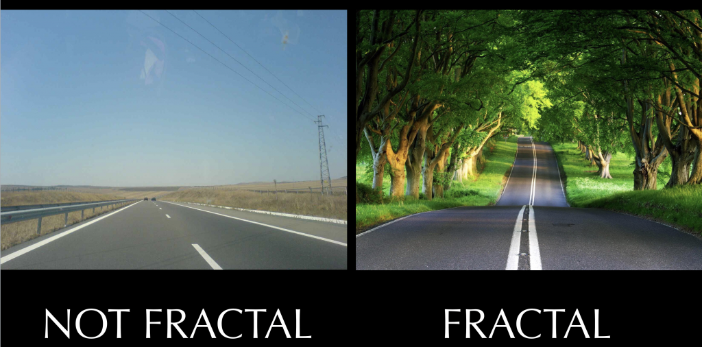 Non fractal vs fractal feng shui