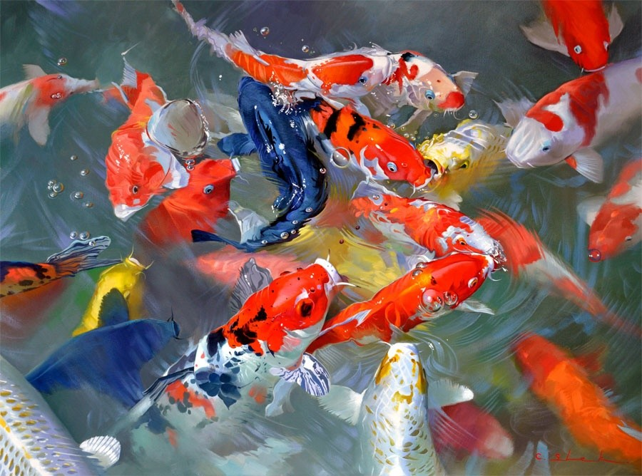 Koi carp feng shui lucky fish feng shui london uk the for Koi fish net
