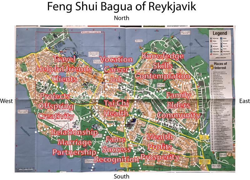 Feng shui bagua of Reykjavik