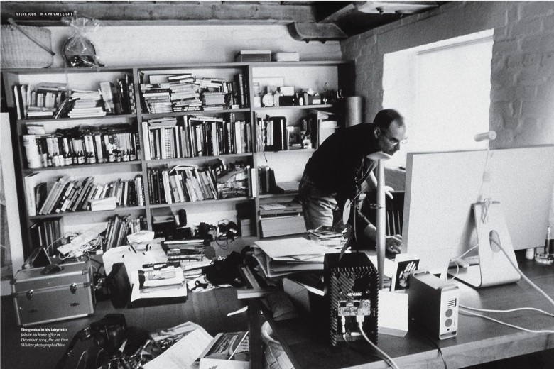 Steve Jobs at his home office