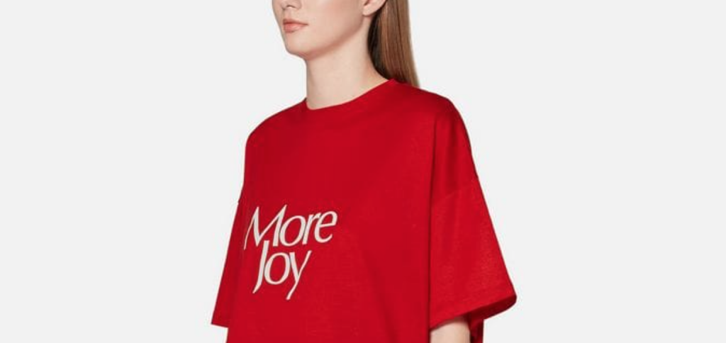 More Joy Tshirt by Christopher Kane
