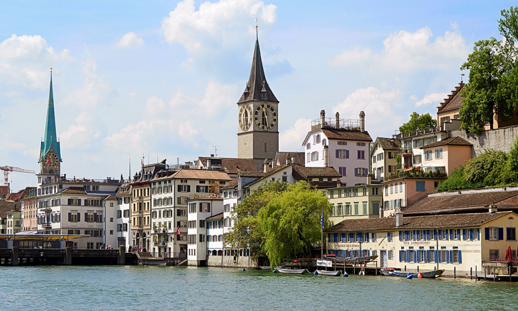 Feng shui of Zurich Switzerland