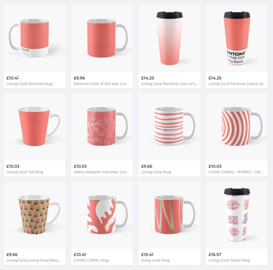Living coral mugs