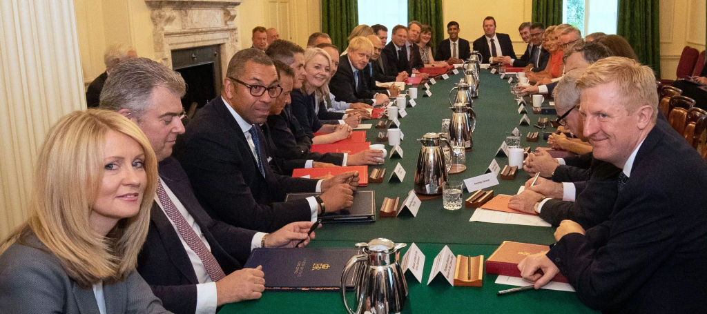 Feng shui of Cabinet Table at 10 Downing Street