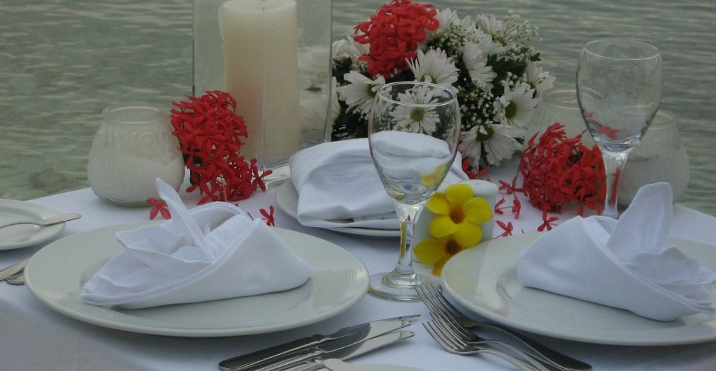Remember the tablecloth for Valentine's day – good feng shui and romance